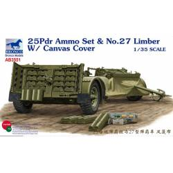 25pdr Ammo Set & No.27 Limber With Canvas Cover