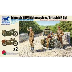 Triumph 3HW Motorcycle w/British MP Set