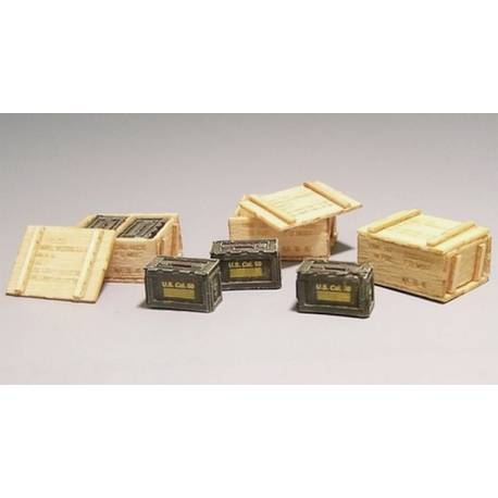 boites de munitions en bois us army periode guerre de vietnam plus model 420 1 35 me maquette. Black Bedroom Furniture Sets. Home Design Ideas