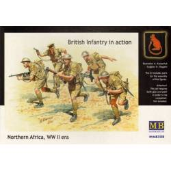 British Infantry in action, Northern Africa, WW II era