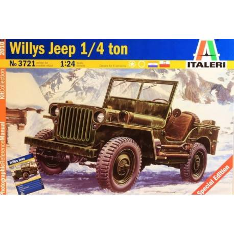 willys jeep 1 4 ton italeri 3721 1 24 me maquette char promo. Black Bedroom Furniture Sets. Home Design Ideas