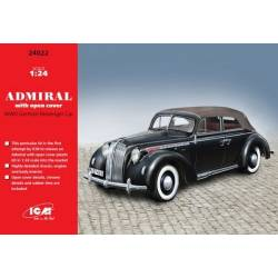 Admiral Cabriolet with open cover WWII German Passenger Car