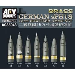 GERMAN sFH18 15cm HOWITZER AMMO SET
