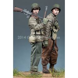 WW2 US Infantry set 2 figurines
