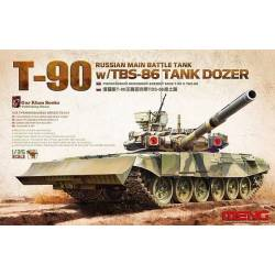 RUSSIAN MAIN BATTLE TANK T-90 w/TBS-86 TANK DOZER