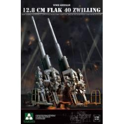 WWII GERMAN 12.8 CM FLAK 40 ZWILLING