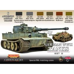 GERMAN WWII TANKS SET2 6x 22ml acrylic colours