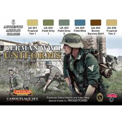 GERMAN WWII UNIFORMS SET 1 6x 22ml acrylic colours