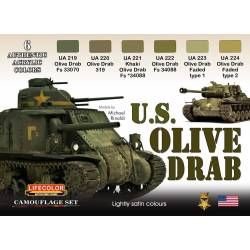 U.S. OLIVE DRAB 6x 22ml acrylic colours