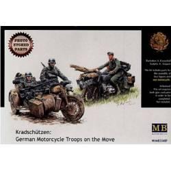 Kradschutzen: German Motorcycle Troops on the Move