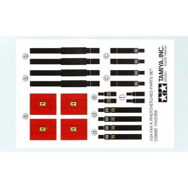 ferrari fxx k photo etched parts set tamiya 12668 1 24 me. Black Bedroom Furniture Sets. Home Design Ideas