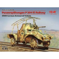 Panzerspähwagen P 204 (f) Railway WWII German Armoured Vehicle