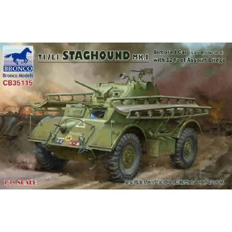 T17E1 Staghound MK.1 (Late Production)with 12 feet Assault Bridge