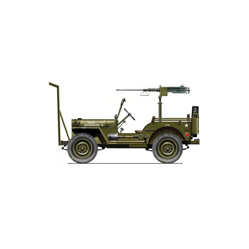 jeep willys avec mitrailleuse m2 italeri 6351 1 24 me. Black Bedroom Furniture Sets. Home Design Ideas