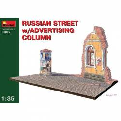 RUSSIAN STREET w/ADVERTISING COLUMN