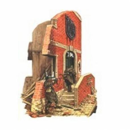 Ruine de maison allemande avec entree et escalier r2 13302 - Entree de maison avec escalier ...