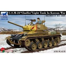 U.S. M-24 CHAFFEE light tank KOREAN WAR