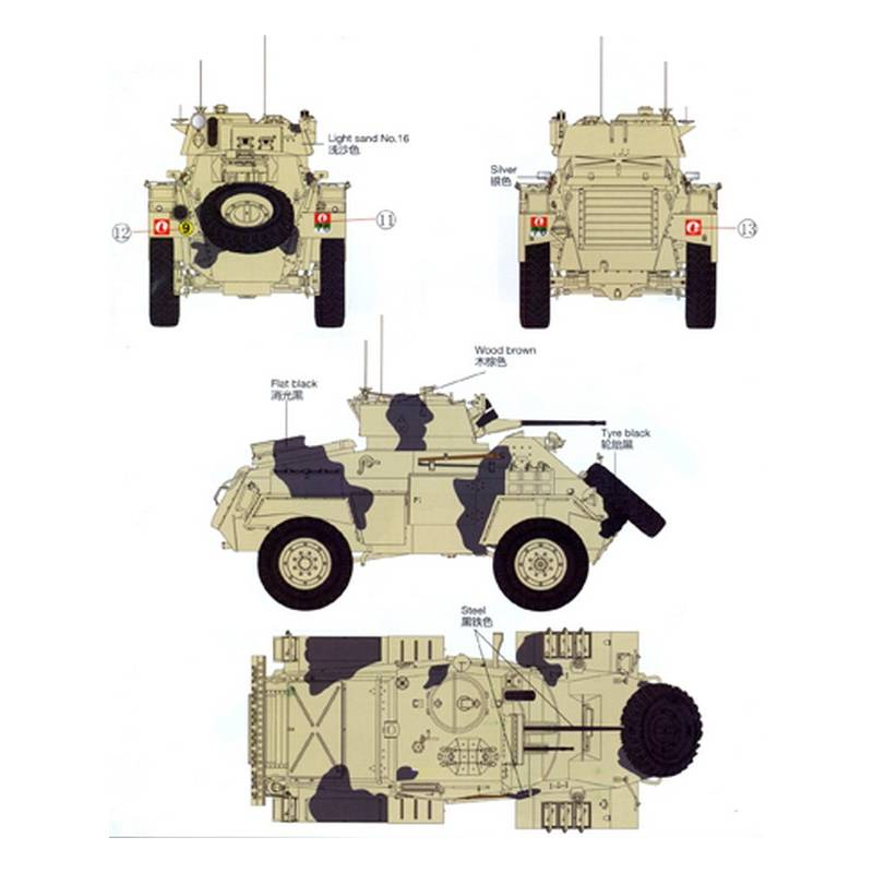 british humber armoured car mk ii bronco models 35085 1 35 me maquette char promo. Black Bedroom Furniture Sets. Home Design Ideas