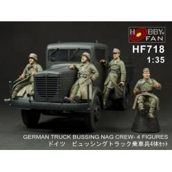 German truck Bussing Nag crew (4 figures)