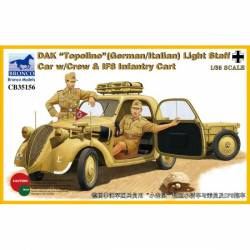 """DAK """"Topolino"""" Light Staff Car With Crew And IF8 Infantry Cart"""