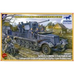 Sd Kfz 6/2 (BN9) 3.7cm FlaK36 auf Fahrgestell Zugkraftwagen 5t (Early Production)