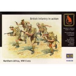 British Infantry in action, Northern Africa, WW II era
