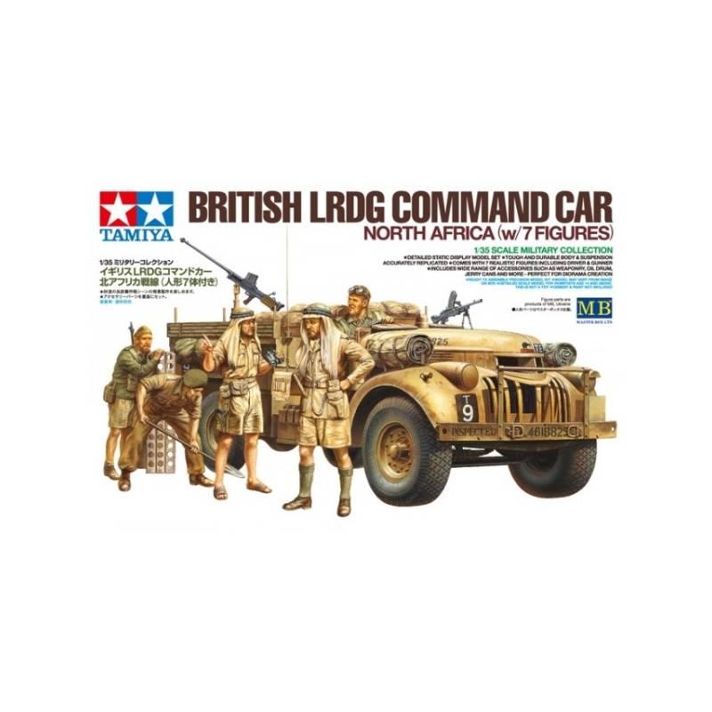 Tamiya British LRDG Command Car North Africa w//7 Figures