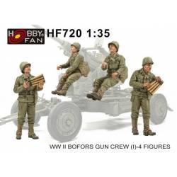 WW II BOFORS GUN CREW (I) - 4 FIGURES