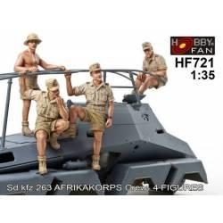 Sd.Kfz.263 Afrikakorps Crew - 4 figs