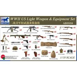 WWII US Light Weapon & Equipment Set