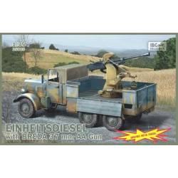 Einheitsdiesel with BREDA 37mm AA Gun