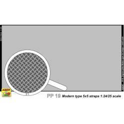 plaque gravée modern type 5x5 strips 1/24 1/25
