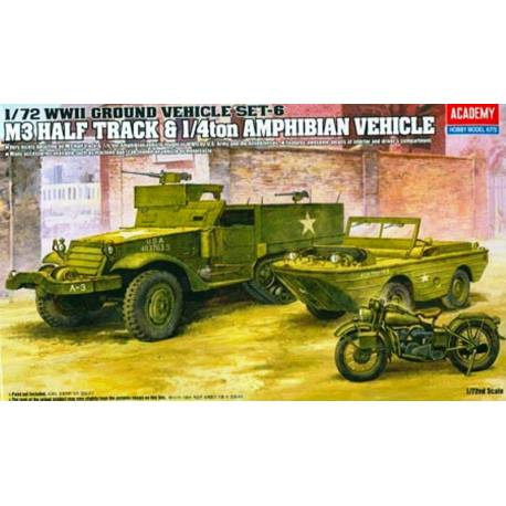 M3 HALF TRACK & 1/4ton AMPHIBIAN VEHICLE