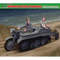 Sd.Kfz.2 Kettenkrad Early Production w/Infanteriekarren