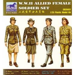 WWII Allied Female Figure Set