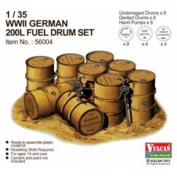 German WWII 200L Fuel Drum Set