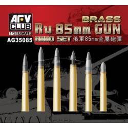 Ru 85mm Gun Ammo Set (Brass shells)