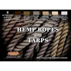 Hemp ropes and tarps
