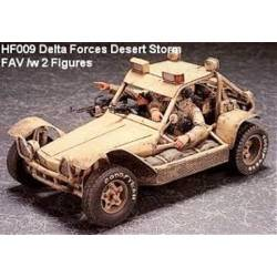 DELTA FORCES DESERT STORM FAV WITH 2 FIGURES