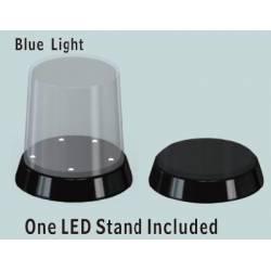 vitrine ronde base avec LED lumineux