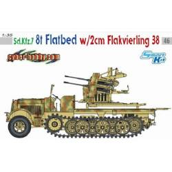Sd.Kfz. 7 8t Flatbed w/2cm Flakvierling 38