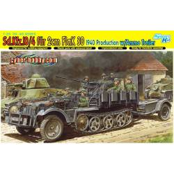 Sd.Kfz.10/4 fur 2cm FlaK 30, 1940 Production w/Ammo Trailer