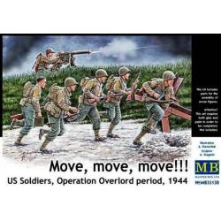 Move, move, move!!! U.S. Soldiers Operation Overlord period, 1944