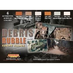 Debris and rubble