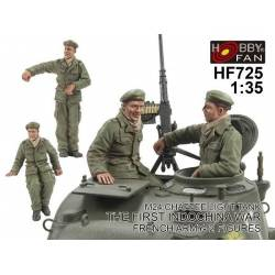 Crew For Chaffee Light Tank, The First Indochina War, French Army-