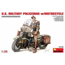 U.S. MILITARY POLICEMAN w/MOTORCYCLE