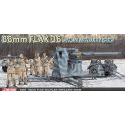 German 88mm Flak 36 with Flak Artillery Crew