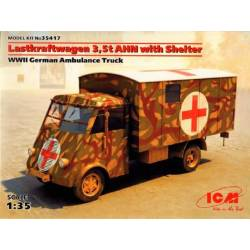 Lastkraftwagen 3,5 t AHN with Shelter WWII German Ambulance Truck