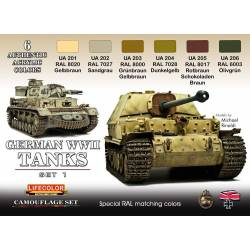 GERMAN WWII TANKS SET1 6x 22ml acrylic colours