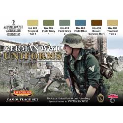 GERMAN WWII UNIFORMS SET 1 6x 22ml acrylic colours